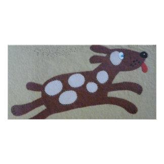 brauner Hund Photo Karte