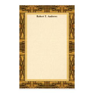 brauner tan Western Personalisiertes Büropapier