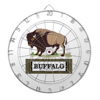 brauner Umbau des Büffels Dartscheibe
