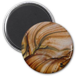 Braunfarbiger Deschutes Jaspis Runder Magnet 5,7 Cm