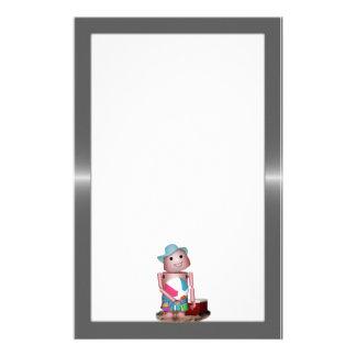 Bräunte Robo-x9 (addieren Sie Hintergrundfarbe) Personalisierte Druckpapiere