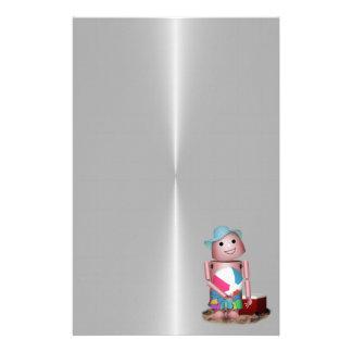 Bräuntes Robo-x9 vergaß Lichtschutz (Metallrücksei Bedrucktes Papier