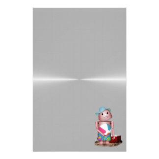 Bräuntes Robo-x9 vergaß Lichtschutz (Metallrücksei Personalisierte Druckpapiere