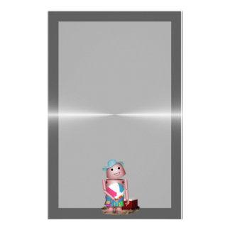 Bräuntes Robo-x9 vergaß Lichtschutz (Metallrücksei Personalisiertes Büropapier