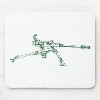 Bräunung des Maschinengewehrs Mousepad