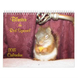 Brausen Sie den Kalender des roten