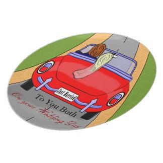Braut-Auto Flacher Teller
