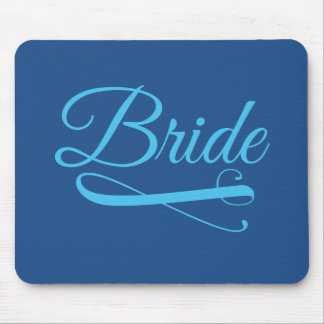 Braut blühen Blau Mousepads