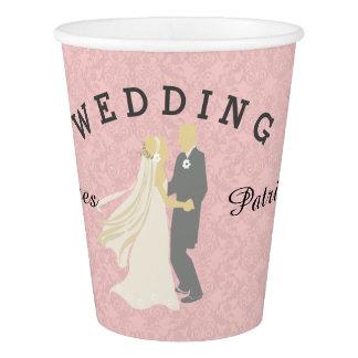 Braut-Bräutigam-Tanzen-Hochzeitstag Pappbecher