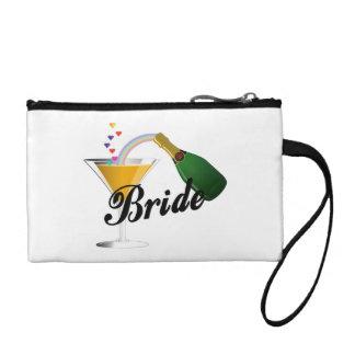 Braut-Champagne-Toast Kleingeldbörse