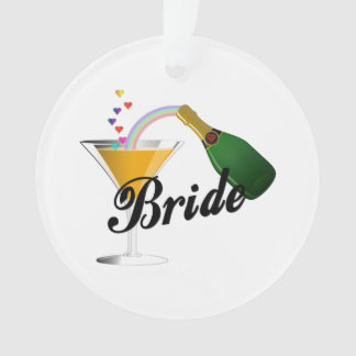 Braut-Champagne-Toast Ornament