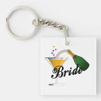Braut-Champagne-Toast Schlüsselanhänger
