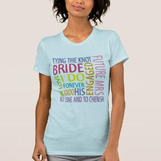 Braut-Gefühle die T - Shirt Wedding sind