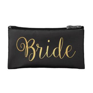 Braut-goldene Make-uptasche Kosmetiktasche