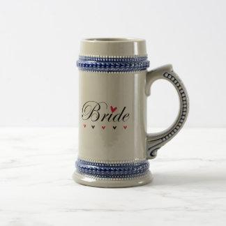 Braut-Herzen Bierglas