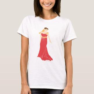Braut im roten Kleiderbraut-T - Shirt