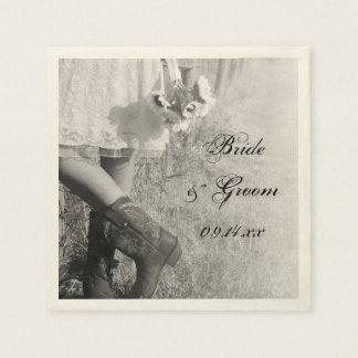 Braut in den Cowboystiefeln, Papierserviette