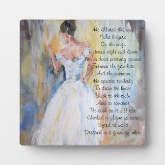 Braut inspirierend Poesie Christus Fotoplatte