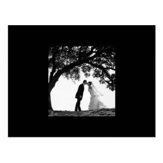 Braut-Kuss unter Eichen-Postkarte Postkarte