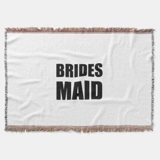 Braut-Mädchen-Hochzeit Decke