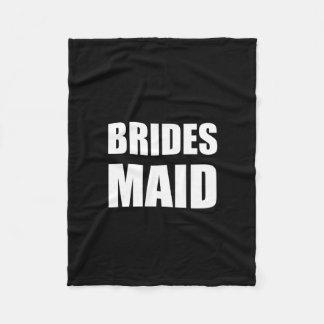 Braut-Mädchen-Hochzeit Fleecedecke