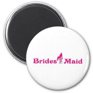 Braut-Mädchen Runder Magnet 5,1 Cm