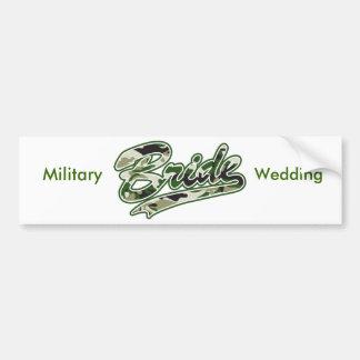 Braut/militärische grüne Tarnung Autoaufkleber