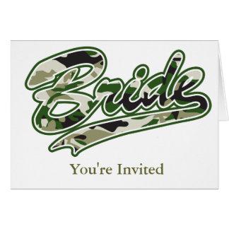 Braut/militärische grüne Tarnung Karte