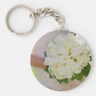 Braut mit Blumenstrauß Schlüsselanhänger