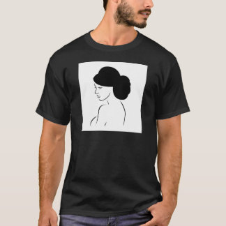 Braut mit eleganter Frisur T-Shirt