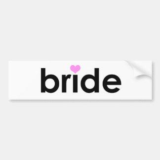 Braut mit Herzen Auto Sticker