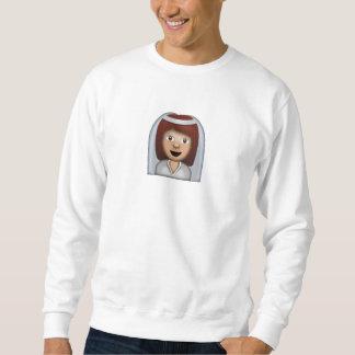 Braut mit Schleier Emoji Sweatshirt