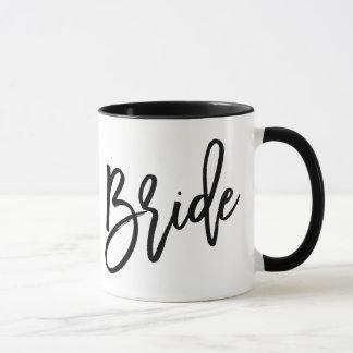 Braut-modische Beschriftung Tasse