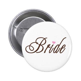 Braut-nobles Braun Anstecknadelbuttons