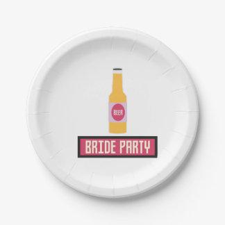 Braut-Party-Bierflasche Z6542 Pappteller
