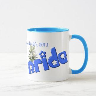 Braut-personalisierte Hochzeits-Kaffee-Tasse Tasse