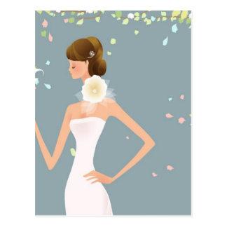 Braut Postkarte