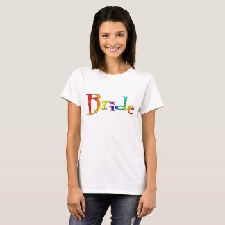 Braut-Regenbogen-T - Shirt