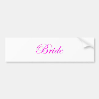 Braut-Rosa Autoaufkleber