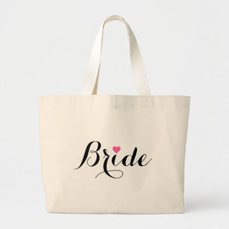 Braut-rosa Herz-riesige Taschen-Tasche Jumbo Stoffbeutel