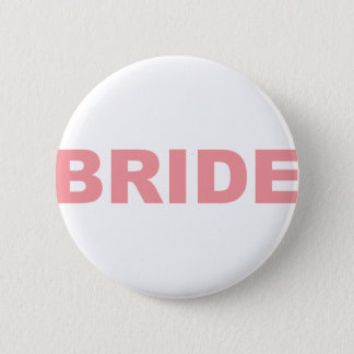 Braut-rosa Schreiben Runder Button 5,7 Cm