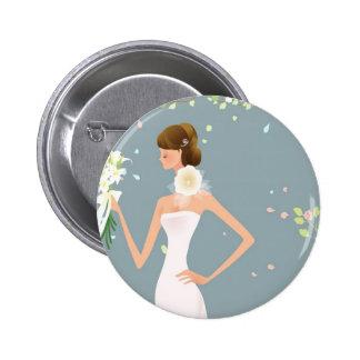 Braut Runder Button 5,7 Cm