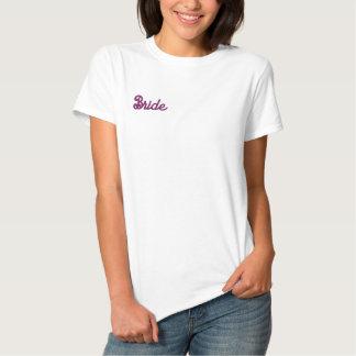Braut-Shirt - ruiniert nicht das Haar der Braut! Besticktes T-Shirt