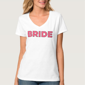 Braut-Shirt | V-Hals Brautt-shirt Entwurf T-Shirts