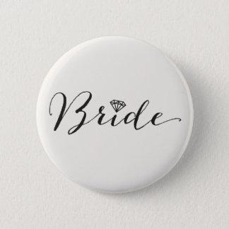 Braut-Skript-Diamantchic-Hochzeits-Brautparty Runder Button 5,7 Cm
