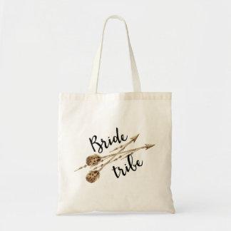 Braut-Stamm Boho Pfeile Budget Stoffbeutel