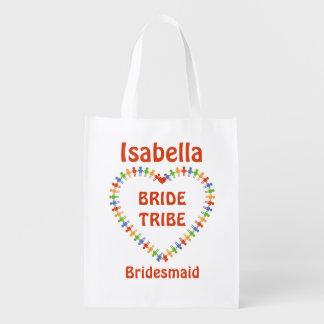 Braut-Stamm, Brautjungfern-kundenspezifische Wiederverwendbare Einkaufstasche