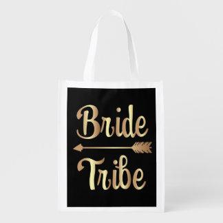 Braut-Stamm-Brautjungferntasche Gold Wiederverwendbare Einkaufstasche