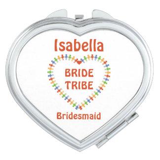 Braut-Stamm, personalisiertes kundenspezifisches Schminkspiegel