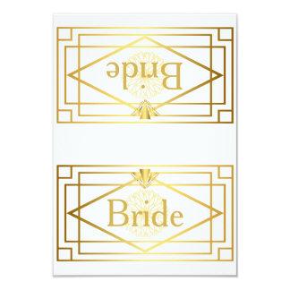 Braut-Stuhl-Tabelle, Hochzeit, Monets Dahlie, Weiß Karte